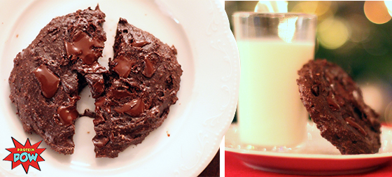 Leave Santa a Chocolate Cookie That Packs a Protein Punch!